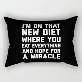 New Diet Funny Quote Rectangular Pillow