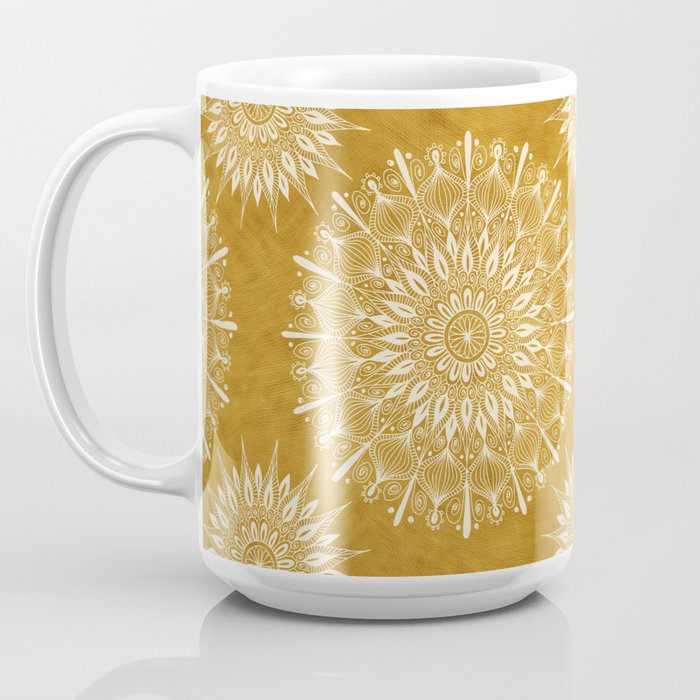 Vintage Mandala on Gold Coffee Mug