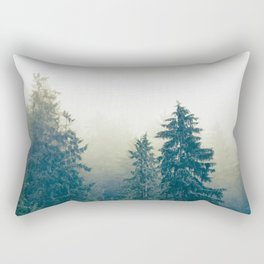Misty trees. Rectangular Pillow