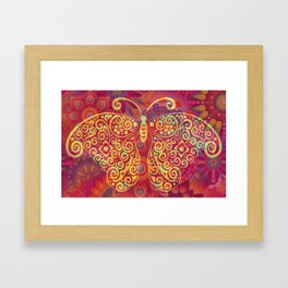 Psychedelic Butterfly Framed Art Print