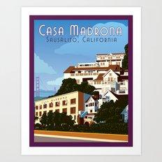 Casa Madrona Art Print