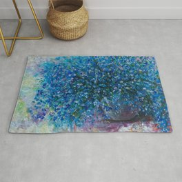 Bouquet Of Forget Me Nots by Lena Owens Rug