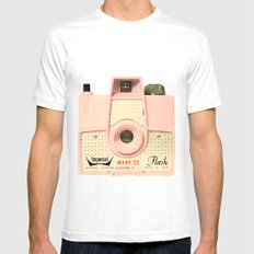 Think Pink White MEDIUM Mens Fitted Tee