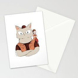 Walter the metal cat Stationery Cards