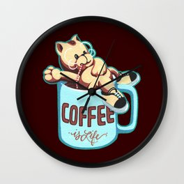 Coffee is Life Wall Clock