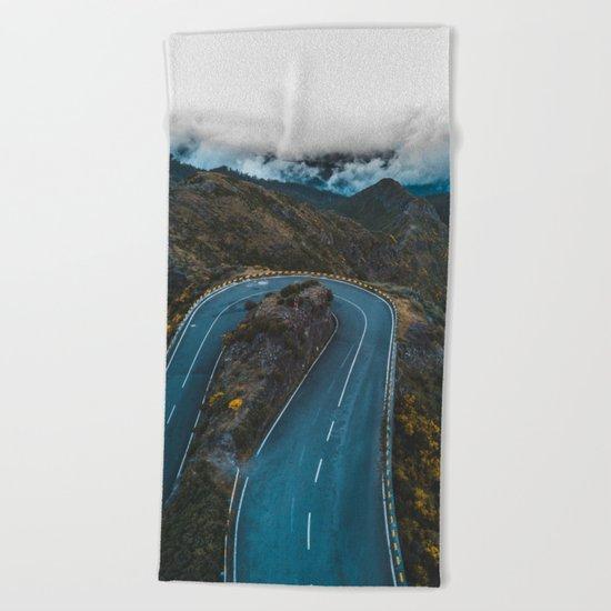 Road of life Beach Towel