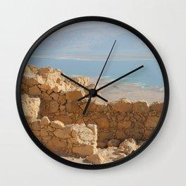 ABOVE THE DEAD SEA Wall Clock