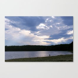 Walden Pond at Dusk 2 Canvas Print