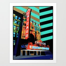 At the Theater Art Print