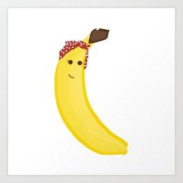 Banana in Bandana Art Print