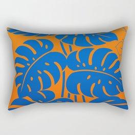 PLANTS - Philodendron#1_Orange bgr Rectangular Pillow