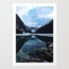 Lake Louise at sunset Art Print
