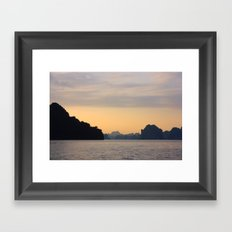 Halong Bay, Vietnam.  Framed Art Print
