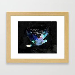 DOVE Psalm 55:6 Wings of a Dove Scripture Abstract Art Michel Keck Framed Art Print
