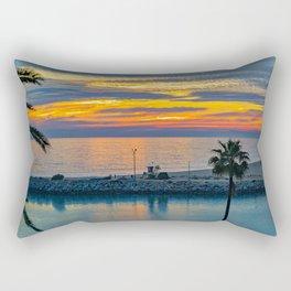 Electric Sunset at the Wedge Rectangular Pillow