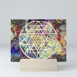 shree yantra mandala Mini Art Print