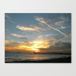 Sunset at Seal Beach Canvas Print