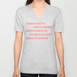 Daily Guide In Coral Unisex V-Neck