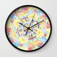 kaleidoscope Wall Clocks featuring Kaleidoscope by Syrupea