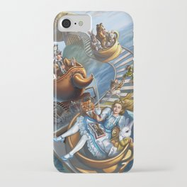 Steampunk Alice in Wonderland Teacups iPhone Case
