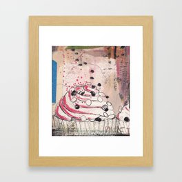 cupcakes and happiness Framed Art Print