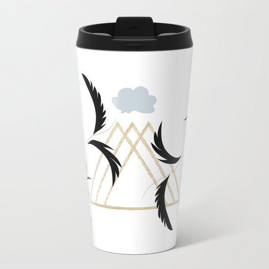Misty Mountains Metal Travel Mug
