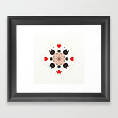 Cat Mandala 1 Framed Art Print