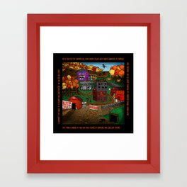 Halloween Dream Town Framed Art Print