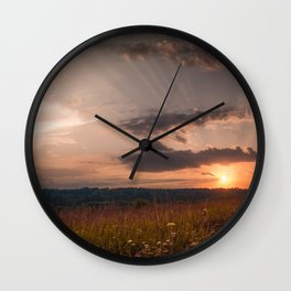 In the middle of the Summer Wall Clock