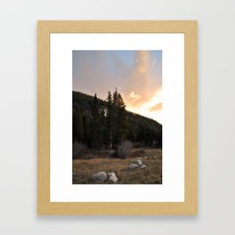 Sunrise in the Peaceful Valley Framed Art Print