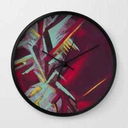 Pineapple Abstraction Wall Clock