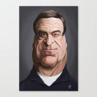 john snow Canvas Prints featuring Celebrity Sunday ~ John Goodman by rob art | illustration