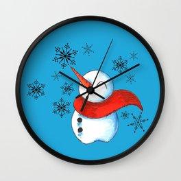 Snowmen and Snowflakes Wall Clock