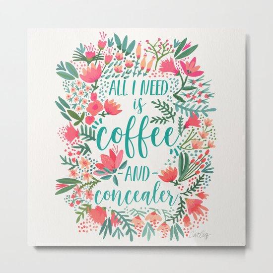 Coffee & Concealer – Juicy Palette Metal Print