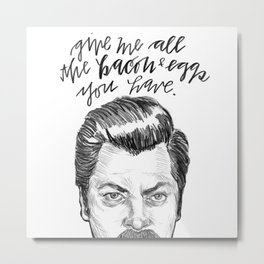 Ron Swanson. [Parks and Recreation] Metal Print