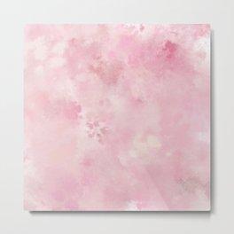 Pink rose fuscia batic look Metal Print