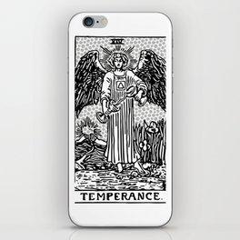 Modern Tarot Design - 14 Temperance iPhone Skin