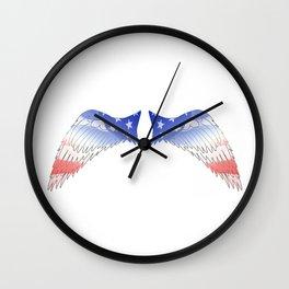 Patriot Wings Wall Clock