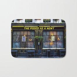 The Pissed as a Newt Pub Bath Mat