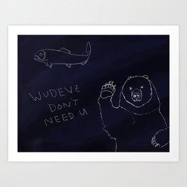 Wudevz Bear Art Print