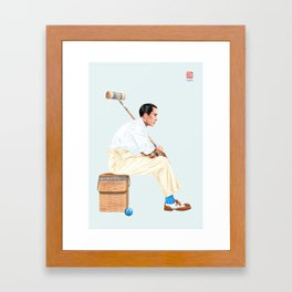 Croquet and Ink Ten Framed Art Print