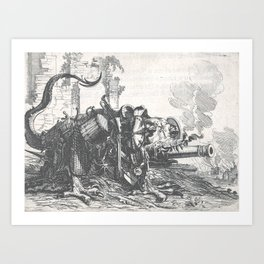 War monster - Salomon Savery (1657) Art Print