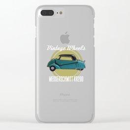 Vintage Wheels - Messerschmitt kr200 Clear iPhone Case