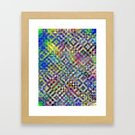 Holy Square Glitch Pattern Framed Art Print