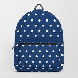 Polka Dots Blue #retro #vintage #60s #50s #minimal #art #design #kirovair #buyart #decor #home Backpack