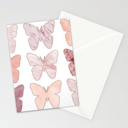 Mixed berry marble butterflies Stationery Cards