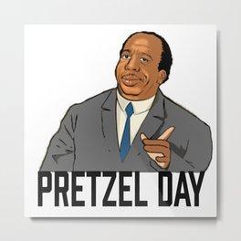 Pretzel day Stanley Metal Print