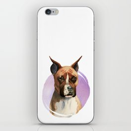 Boxer Dog Watercolor Painting 2 iPhone Skin