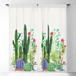 Cactus Garden Blackout Curtain