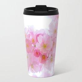 Closeup of a Blossoming Japanese Cherry Tree Travel Mug